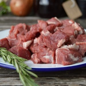 organic grass fed lamb diced