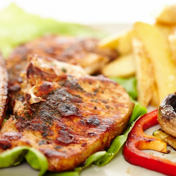 Free range pork steak