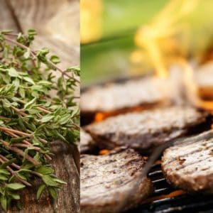 paleo burgers with onion and thyme