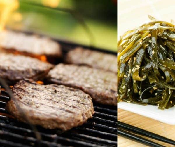 paleo pork burgers with sea greens