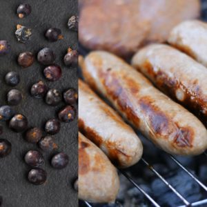 Paleo pork sausages with juniper