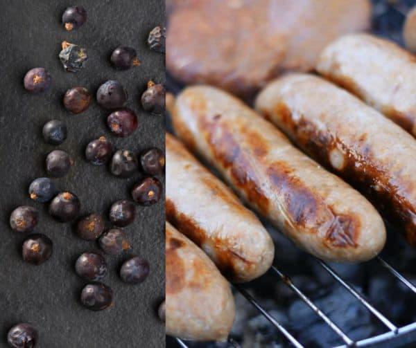 Paleo pork sausages with juniper