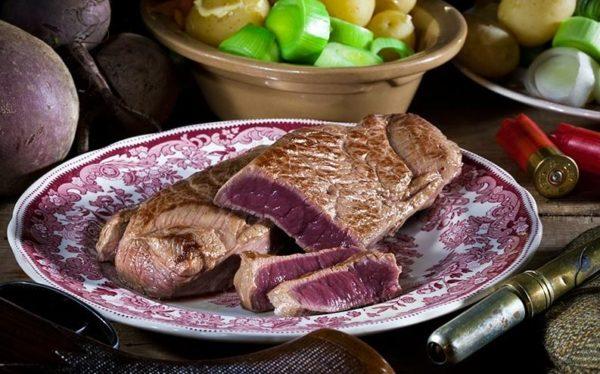wild venison steak